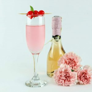 copa con champaña