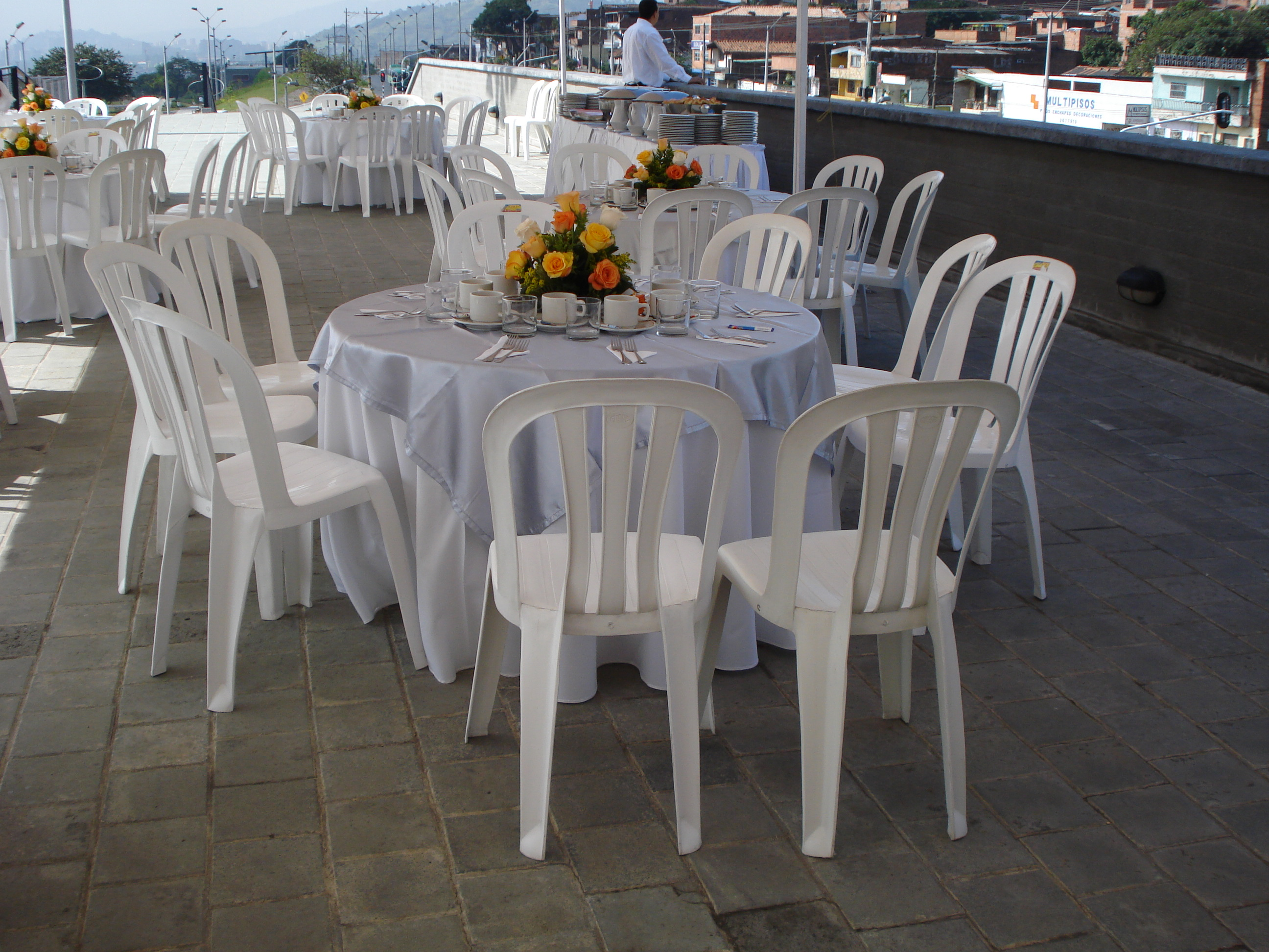 evento con alquiler de sillas